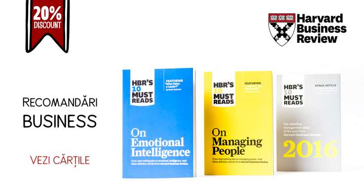 Reducere 20% la toate titlurile Harvard Business Review