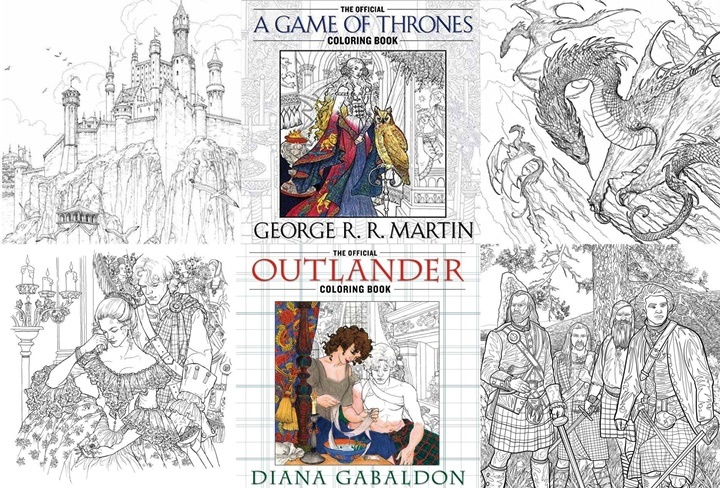 Game Of Thrones And Outlander Coloring Books