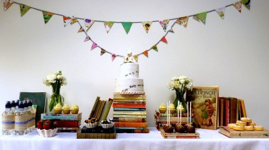 book-party-dessert-table