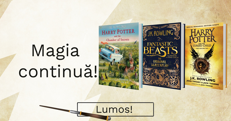 Magia continuă! Bestsellere J.K. Rowling.